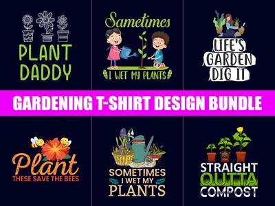 Gardening  T-Shirt Design Bundle .