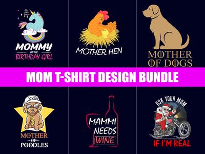 Mom T Shirt Design Bundle