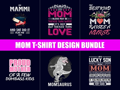 New mom  T-Shirt Design Bundle