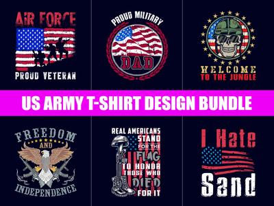 Us Army T Shirt Design Bundle