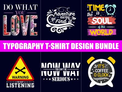 typography t-shirt bundle