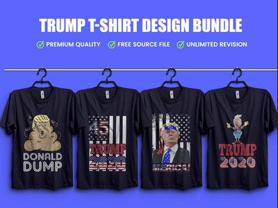 New Trump T-Shirt Design Bundle .