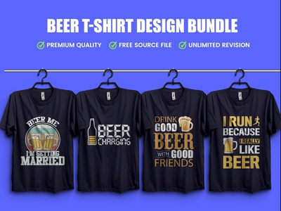 New Beer T-Shirt Design Bundle .