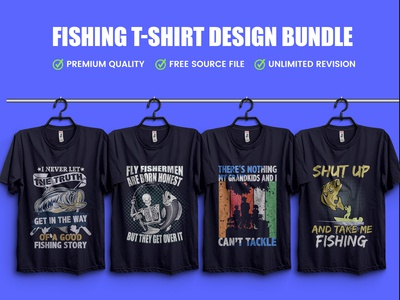 New Fishing T-Shirt Design Bundle - Hello Dribbble