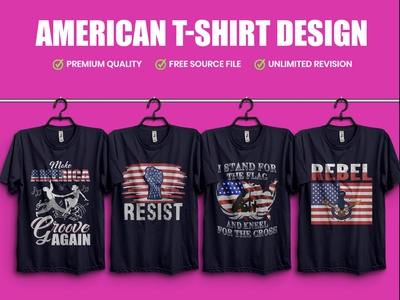 American T-Shirt Design - Hello Dribble