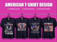 American T-Shirt Design - Hello Dribble