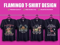 Flamingo T Shirt Design - Hello Dribble