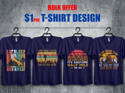 Hiking T-Shirt Design Bundle​​​​​​​
