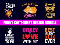 Funny Cat T Shirt Design