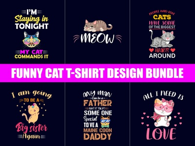 Funny Cat T Shirt Design