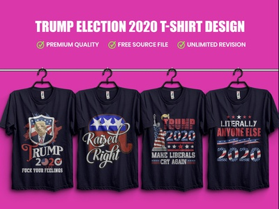 Trump Election 2020 T Shirt Design Bundle.