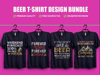 Beer T Shirt Design Bundle.