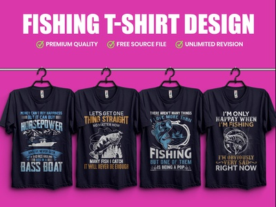 Fishing T-Shirt Design - Hello Dribble