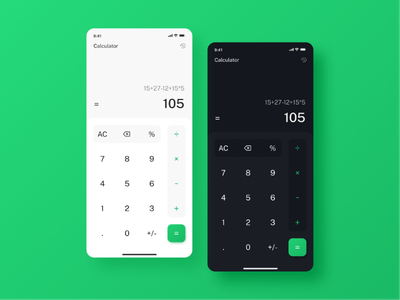 Calculator dark mode light mode product design daily ui typography calculator figma app design graphic design ui design