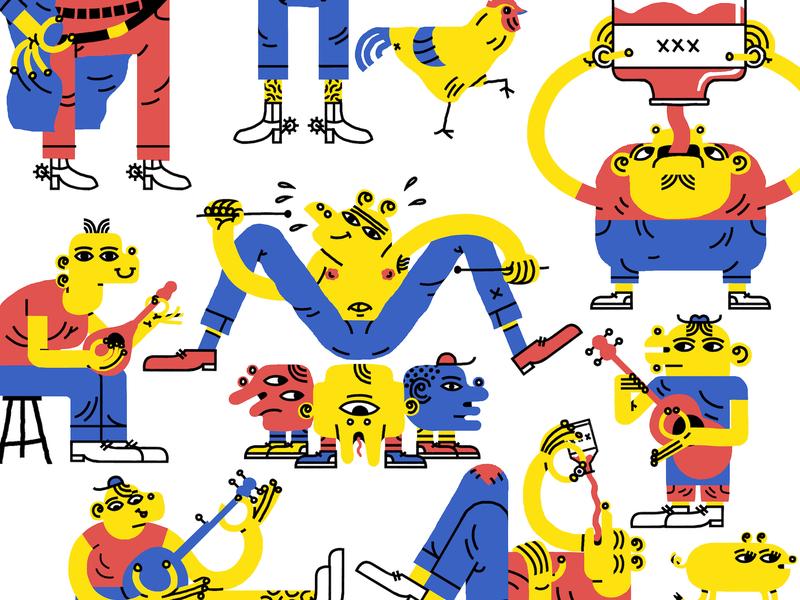 Plinkers And Plonkers 2 flat animation branding design illustration