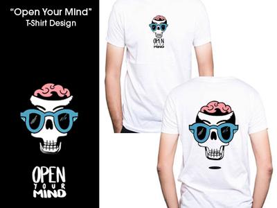 """Open Your Mind"" T-Shirt Design illustrator tshirt design typography illustration photoshop design"