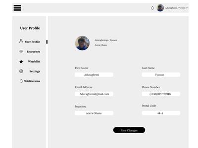 User Profile.