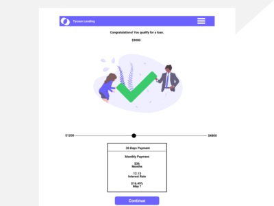 Success Page For Loan Application