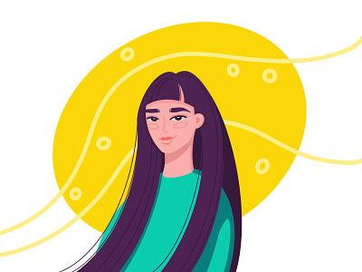 spring avatar smile character portrait girl egg selfportrait character design procreate illustration