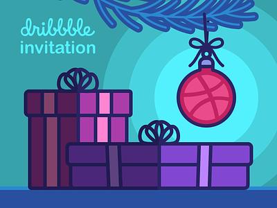 🎟️DRIBBBLE INVITE 🎟️ giveaway dribbble invite icon illustration invitation invite gift bauble