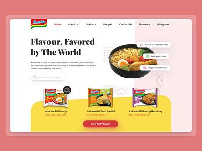 Exploration Indomie Landing Page food instant noodles ui ux website ux ui noodles indofood indomie homepage web design landing page