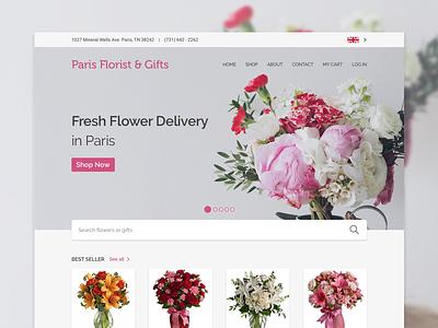 Redesign - Paris Florist & Gifts ecommerce flower florist web ui redesign