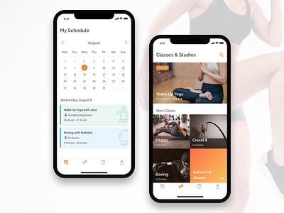 Fitness App yoga app mobile iphonex sport gym fitness