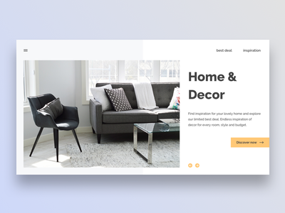 Home & Decor web house scandinavian furniture decor landing page home
