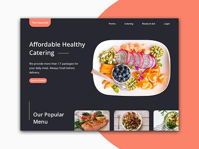 Daily UI #003 - Landing Page homepage dailyui catering restaurant web design food gourmet landing page