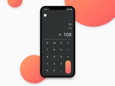 Daily UI #004 - Calculator minimal iphonex dailyui mobile app calculator