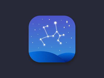 Daily UI #005 - App Icon logo sky stargazing ios app icon dailyui005