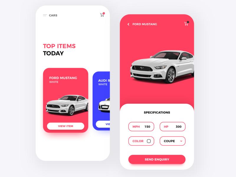 Car App ux ui mobile mobile design design app