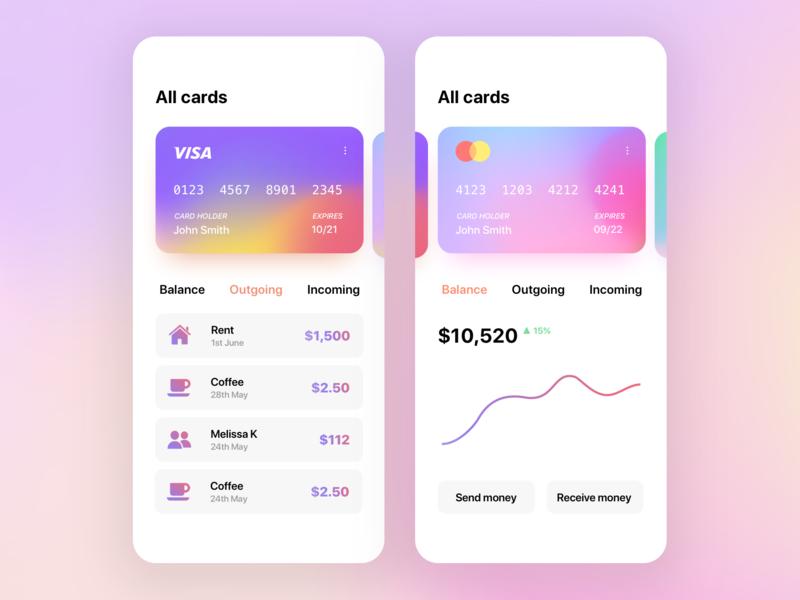 Credit Card App UI/UX finance app mobile ux mobile ui app ux app ui ui ux mobile design mobile design app