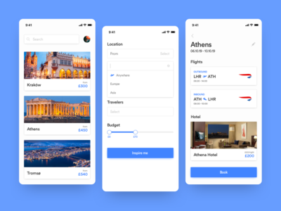 Travel Ideas App UI/UX