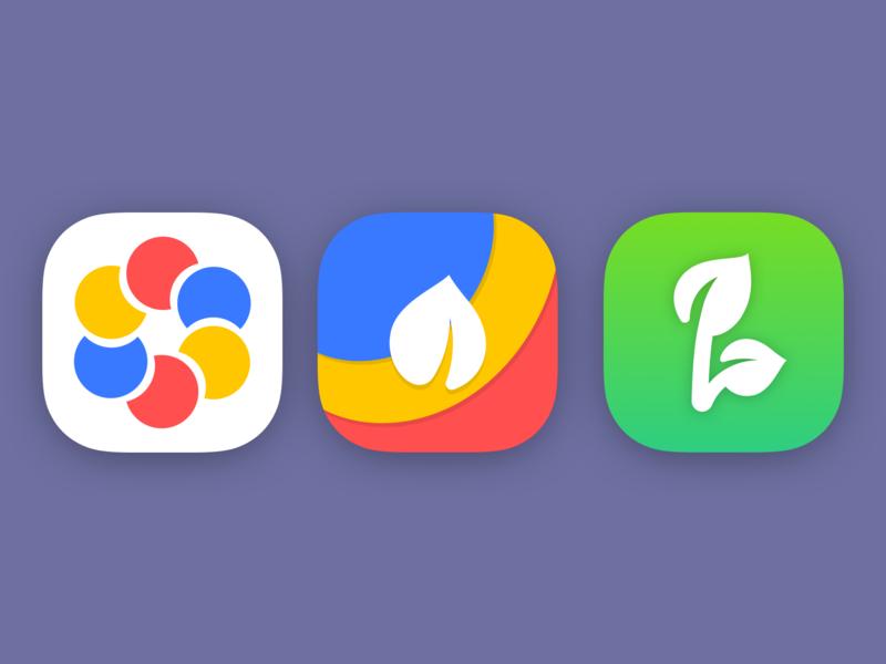 Flower App Icons app icon icon app logo logo illustration mobile ux mobile ui app ux app ui ux ui mobile design mobile design app