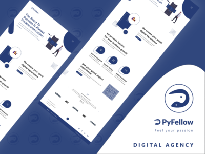 pyfellow - Digital Agency website web design minimal design creative app 2020 trendy website web ux ui