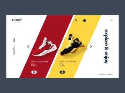 Foot wear E-commerce website slider