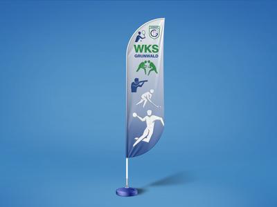 Feather flag for WKS Grunwald Poznan / Żagiel dl WKS