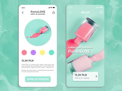 Mobile app PasteLOVE / Koncept appki PasteLOVE