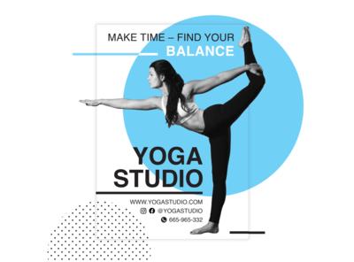 Yoga Studio - leaflet / Yoga Studio - ulotka