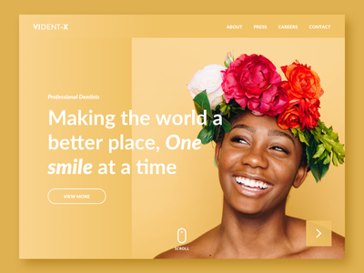 Smile Homepage layout typography interface design site color smile yellow australia medellin ui ux website dailyinspiration uidesign redesing ui-design design colombia bogota