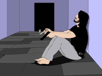 Smoking Kills adobe illustrator keanu reeves illustration