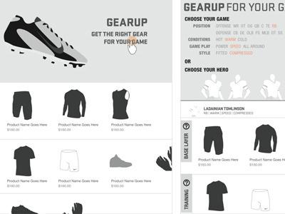 iPad app UX for Nike Football ux ipad
