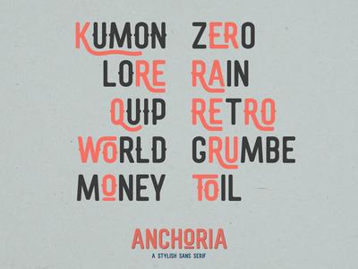 Anchoria: (Super) Ligature-Friendly Typeface
