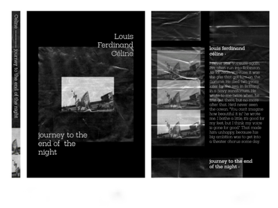 """Cover for """"Journey to the End of the Night"""" by L.F. Celine serif font family bold font serif type family layout book design print typography type design type typeface bookworm book dystopian book cover cover art"""