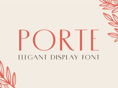 Porte Elegant Display Font