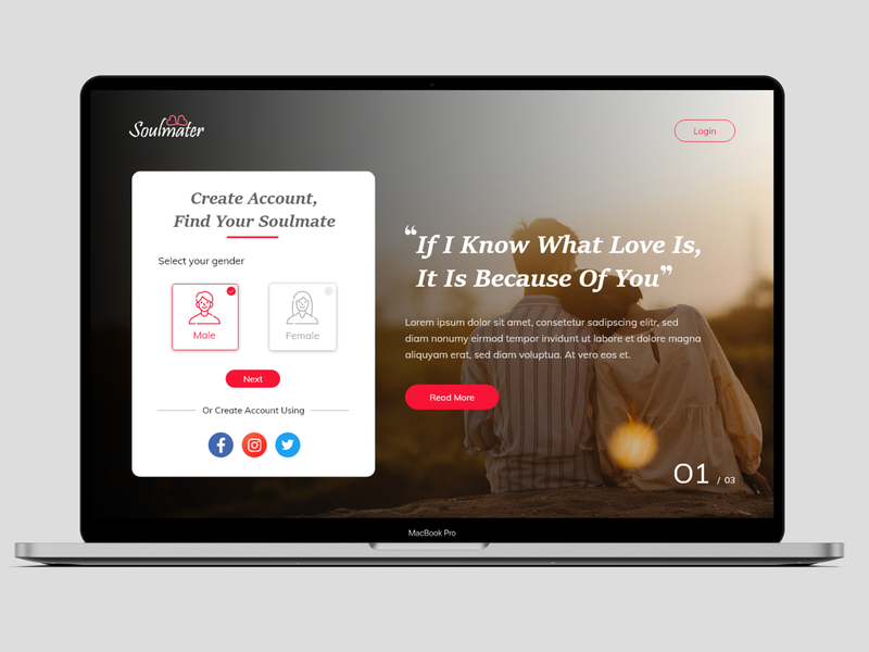 Dating Landing Web Design 2020 design dating logo dating website dating uidesign design landingpage adobe xd