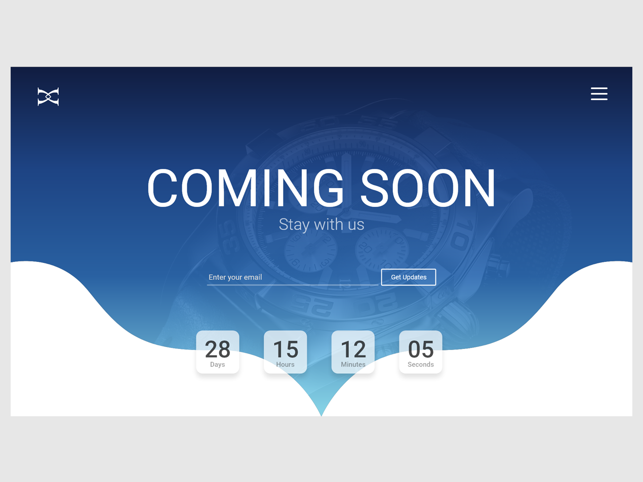 Coming Soon Page coming soon page adobe xd ui