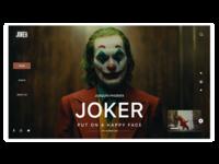 Joker movie web design 2019