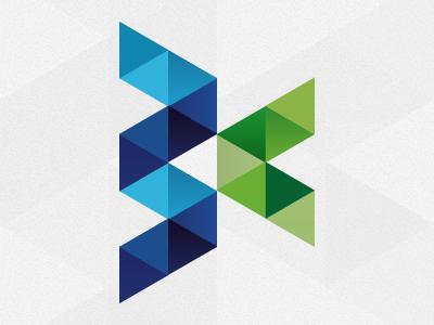 Logo origami blue green web design web tasarım istanbul turkey